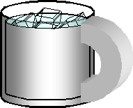 Cup of water.