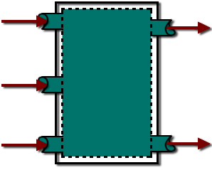 An open system with multiple inlets and multiple outlets is shown in this figure.